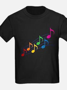 Rainbow Music Notes T
