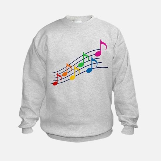 Rainbow Music Notes Sweatshirt