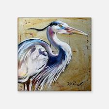 """Cute Blue heron Square Sticker 3"""" x 3"""""""