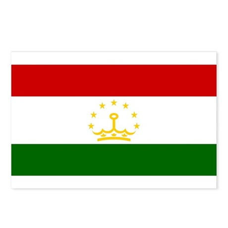 Tajikistan Flag Postcards (Package of 8)