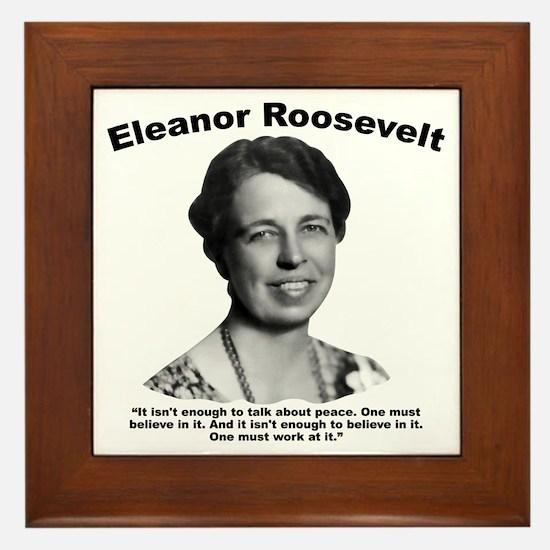 Eleanor: Peace Framed Tile