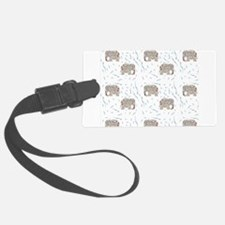 Floral Elephant in Water Luggage Tag