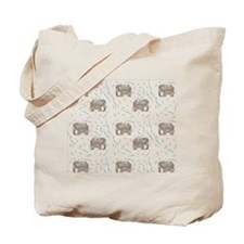 Floral Elephant in Water Tote Bag