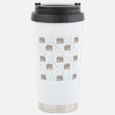 Floral Elephant in Water Travel Mug