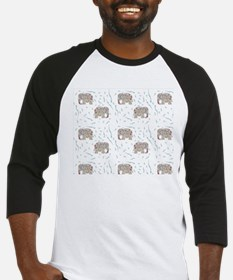 Floral Elephant in Water Baseball Jersey