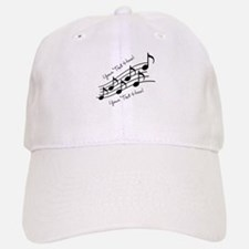 Music Notes PERSONALIZED Baseball Cap