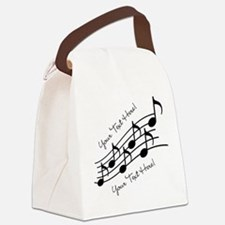 Music Notes PERSONALIZED Canvas Lunch Bag