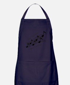 Music Notes PERSONALIZED Apron (dark)