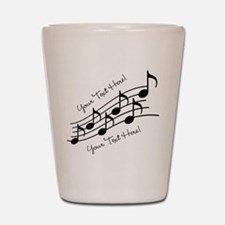 Music Notes PERSONALIZED Shot Glass