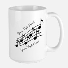 Music Notes PERSONALIZED Mugs