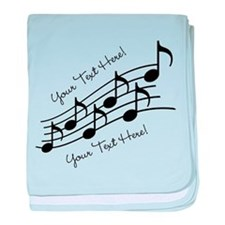 Music Notes PERSONALIZED baby blanket