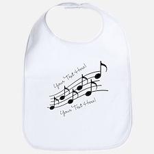 Music Notes PERSONALIZED Bib