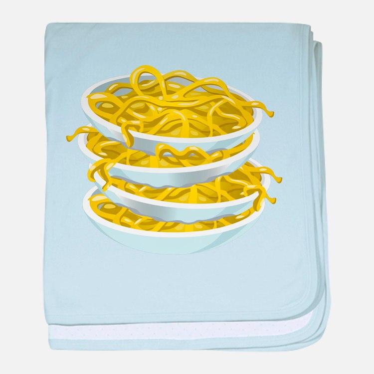Bowls Of Noodles baby blanket
