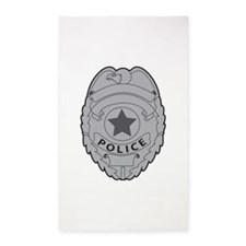 POLICE BADGE Area Rug