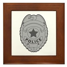 POLICE BADGE Framed Tile
