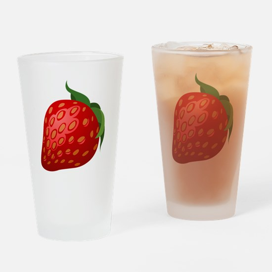 Strawberry Drinking Glass