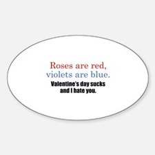 Roses Are Red Sticker (Oval)