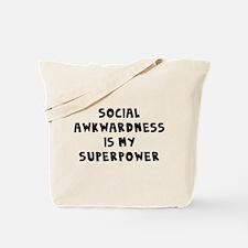 Social Awkward Tote Bag