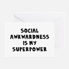 Social Awkward Greeting Card