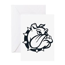 ONE COLOR BULLDOG Greeting Cards