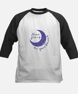 NEVER GIVE UP ON DREAMS Baseball Jersey