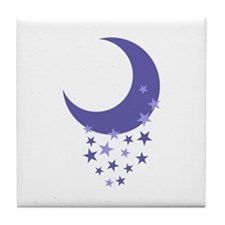 MOON AND STARS Tile Coaster