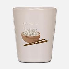 White Rice Shot Glass