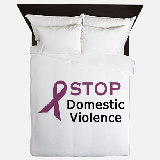 STOP DOMESTIC VIOLENCE Queen Duvet