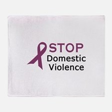 STOP DOMESTIC VIOLENCE Throw Blanket