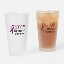 STOP DOMESTIC VIOLENCE Drinking Glass