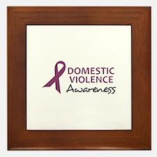 DOMESTIC VIOLENCE AWARENESS Framed Tile