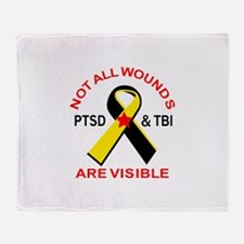 NOT ALL WOUNDS ARE VISIBLE Throw Blanket