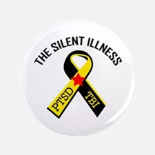 "THE SILENT ILLNESS 3.5"" Button (100 pack)"
