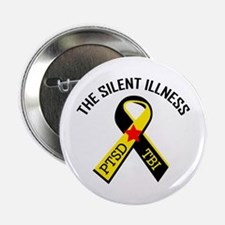 """THE SILENT ILLNESS 2.25"""" Button (10 pack)"""
