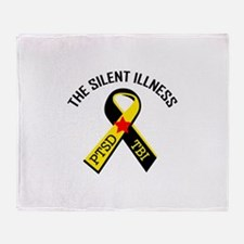 THE SILENT ILLNESS Throw Blanket