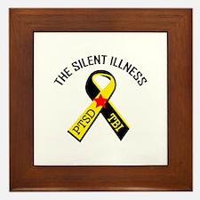 THE SILENT ILLNESS Framed Tile