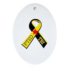 MILITARY PTSD AND TBI RIBBON Ornament (Oval)