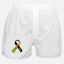 MILITARY PTSD AND TBI RIBBON Boxer Shorts