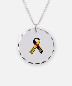 MILITARY PTSD AND TBI RIBBON Necklace
