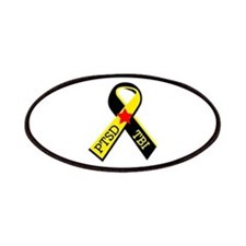 MILITARY PTSD AND TBI RIBBON Patches