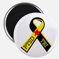 MILITARY PTSD AND TBI RIBBON Magnets