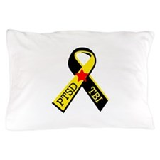 MILITARY PTSD AND TBI RIBBON Pillow Case