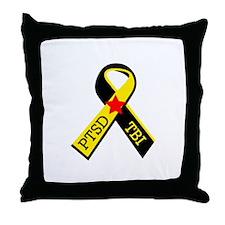 MILITARY PTSD AND TBI RIBBON Throw Pillow