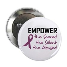 """EMPOWER THE ABUSED 2.25"""" Button (10 pack)"""