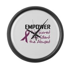 EMPOWER THE ABUSED Large Wall Clock