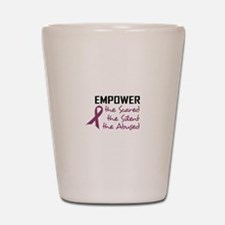 EMPOWER THE ABUSED Shot Glass