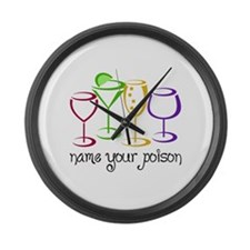 Name Your Poison Large Wall Clock