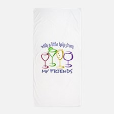 With A Little Help From My Friends Beach Towel