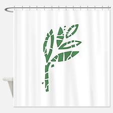Batik Leaves Shower Curtain