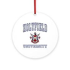 HOLYFIELD University Ornament (Round)